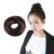 Mode Postiche Brun Foncé Élégant Plat Chignon Perruque Queue de Cheval Perruque Accessoires 88 H9