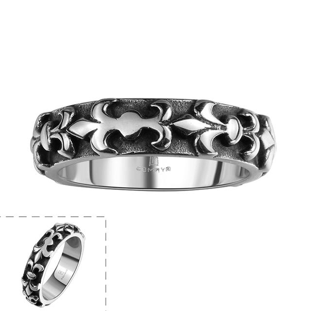 US 8 11 Lureme New Fashion Simple Stainless Steel Mens Ring for