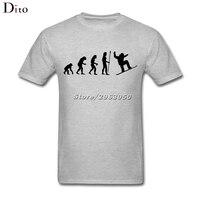 Evolution Snowboarding T Shirt Men Camisa De Basquete Short Sleeve Cotton Custom Big Size Family T
