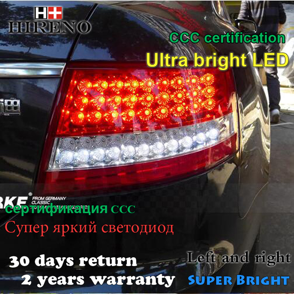 Hireno Tail Lamp for Audi A6 2005 2006 2007 2008 LED Taillight Rear Lamp Parking Brake Turn Signal Lights free shipping for skoda octavia sedan a5 2005 2006 2007 2008 left side rear lamp tail light