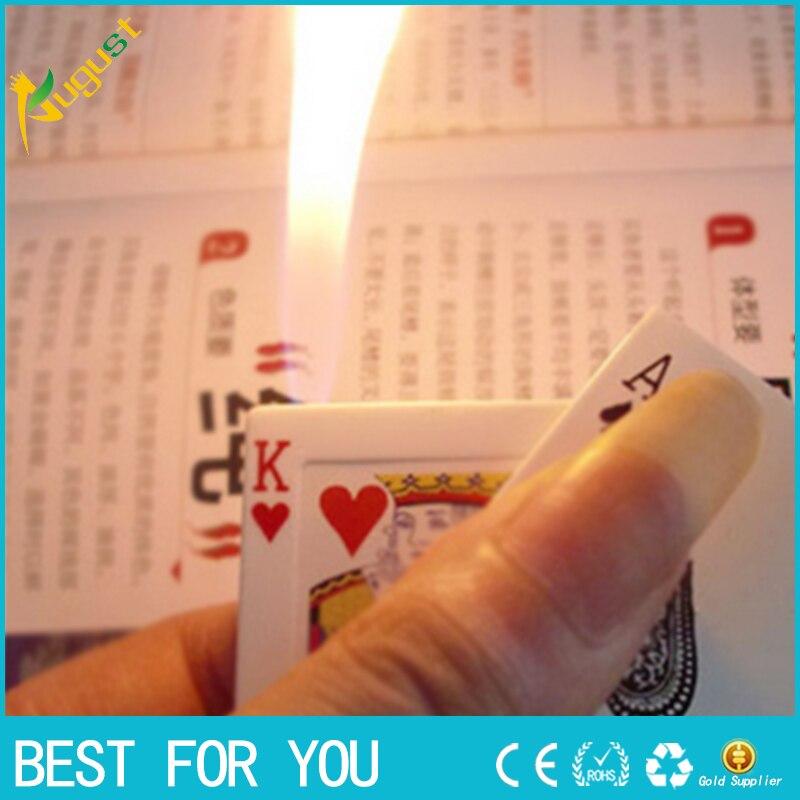 1 unid Inocentes choque eléctrico ligero Creativo Poker plástico para Encendedor