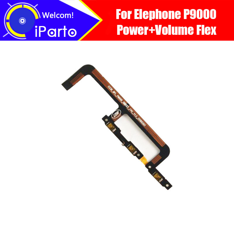 5.5 Inch Elephone P9000 Button Flex 100% Original Power + Volume Button Flex Cable Repair Parts For P9000 Lite  Phone.