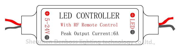 mini controle remoto freqüência suave dimmer dc