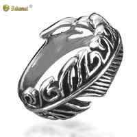 Bahamut 925 Sterling Silver Angel S Feather Ring