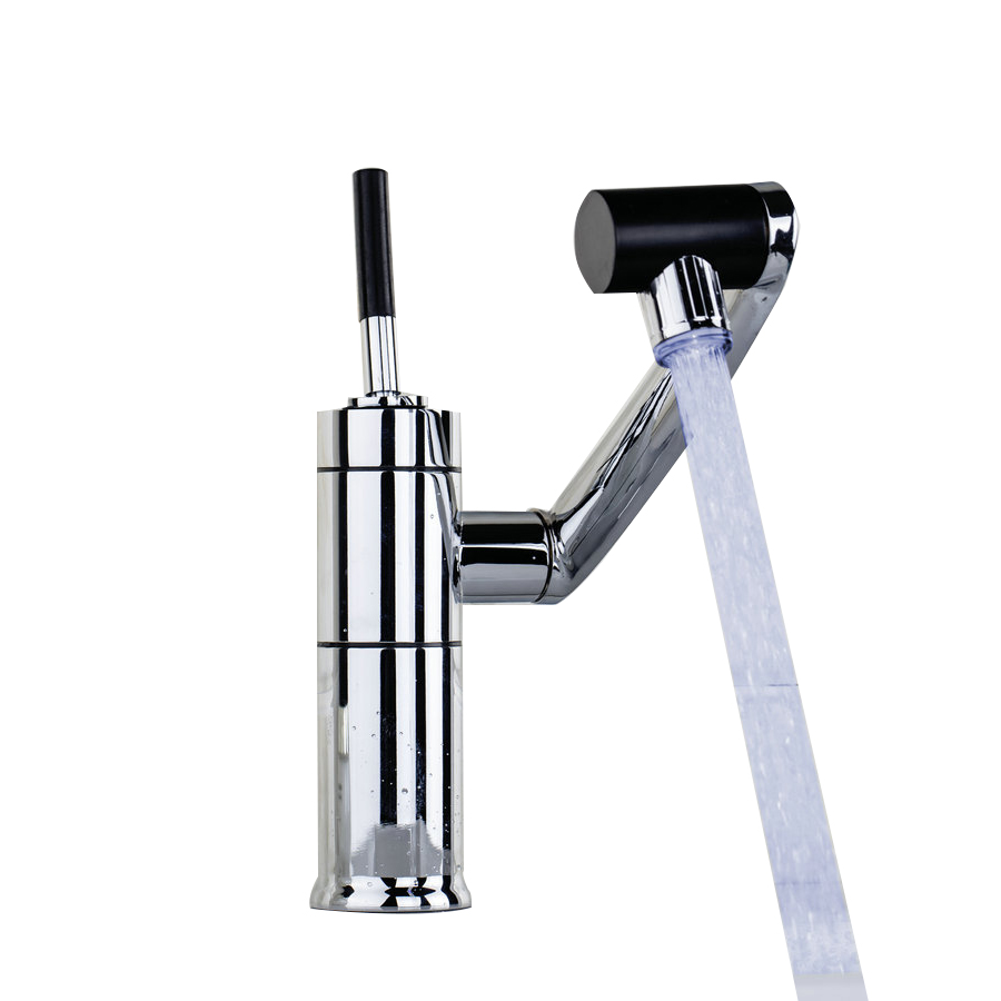 Torayvino RU Bathroom LED faucet Basin Faucet 720 degree rotating chrome basin faucet deck mounted faucet mixer tap torayvino tap bathroom shower faucet with chrome polished cold