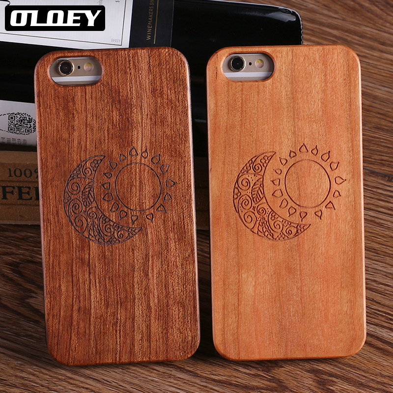 OLOEY Real Bamboo Wood Case For iPhone 7 6 6S Plus Case For iPhone 8 Coque Phone Accessories For SAMSUNG S8 S9 S9 Plus Cover
