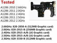 Тестирование материнской платы для Macbook Pro 15 A1286 2010 ноутбук материнскую плату i7 2,66 ГГц 820 2850 A 2011 2,0 ГГц 820 2915 B 2012 2,3 ГГц