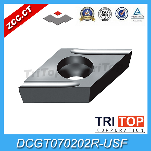 tungsten carbide 10pcs Pack Original ZCC CT DCGT070202 SF YNG151 Cemented Carbide Turning Insert tool part