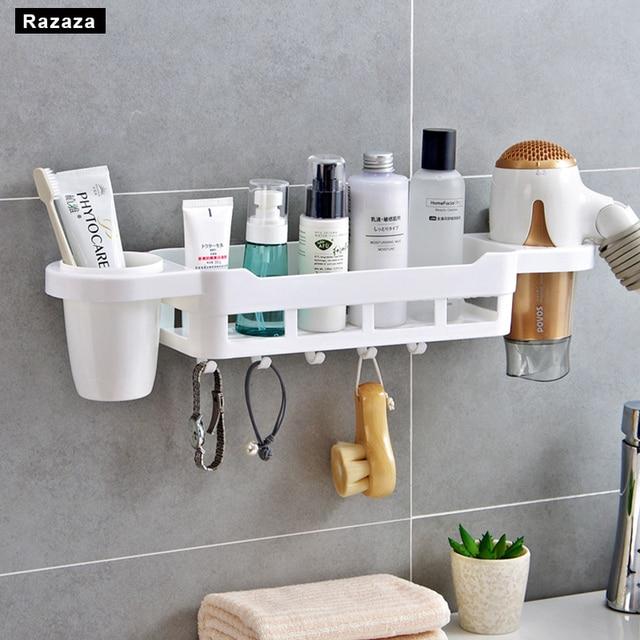 bathroom shelves plastic makeup organizer storage rack shelf for
