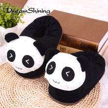 DreamShining New Cute Cartoon Bag With Cotton Slippers Men Women Couple Warm Home slippers Wolf / Cat / Panda / Rabbit /  Monkey