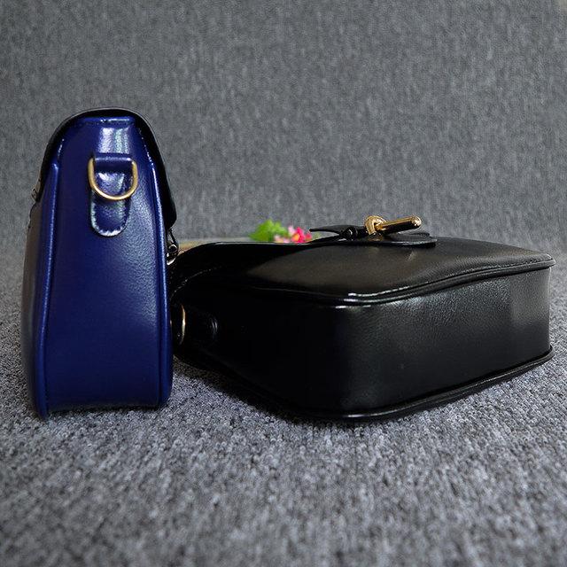 2017 New Brand Designer Women Small Messenger Bag Pu Leather Solid Color Shoulder Bag Fashion Vintage Girls Evening Party Bag