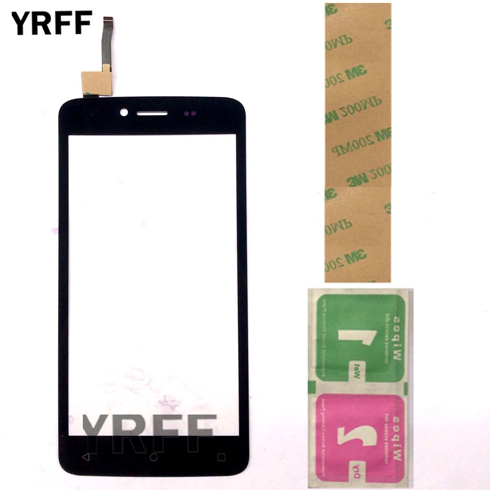 5'' Mobile Touch Screen Panel For Fly FS505 Nimbus 7 FS 505 Touch Screen Digitizer Front Glass Sensor Replacement 3M Glue Wipes