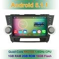 10.1 дюймов Quad Core HD Android 5.1.1 Dvd-плеер Автомобиля Радио GPS для Toyota Highlander 2011 2012 2013 2014 с Mirror-link BT WI-FI