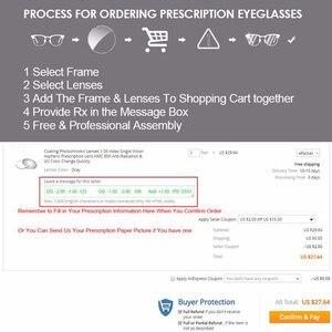Image 5 - 1.56 1.61 1.67 Photochromic Gray Lenses with Anti blue Ray Protection Optical Prescription Glasses Myopia Hyperopia Lenses