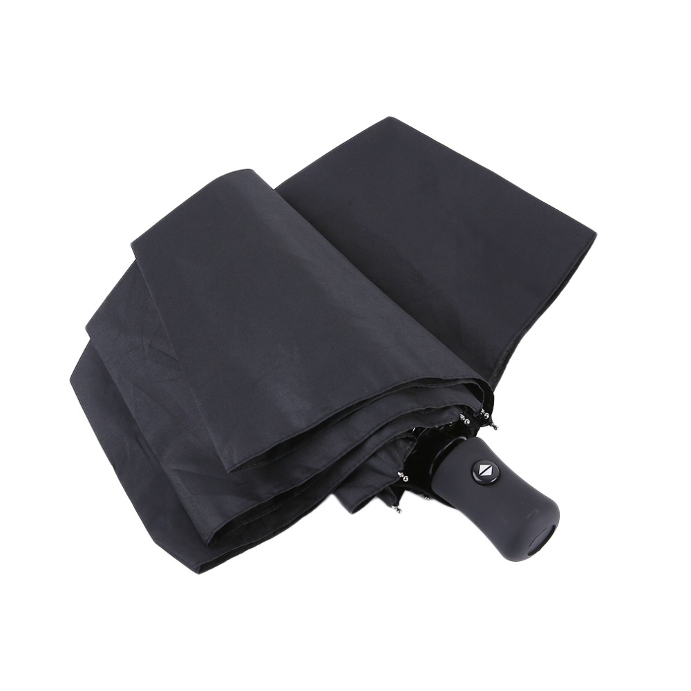 1PC Durable Umbrella Advanced Fully Automatic UV proof Three Folding Business Solid Sunshade Rain Umbrella 3