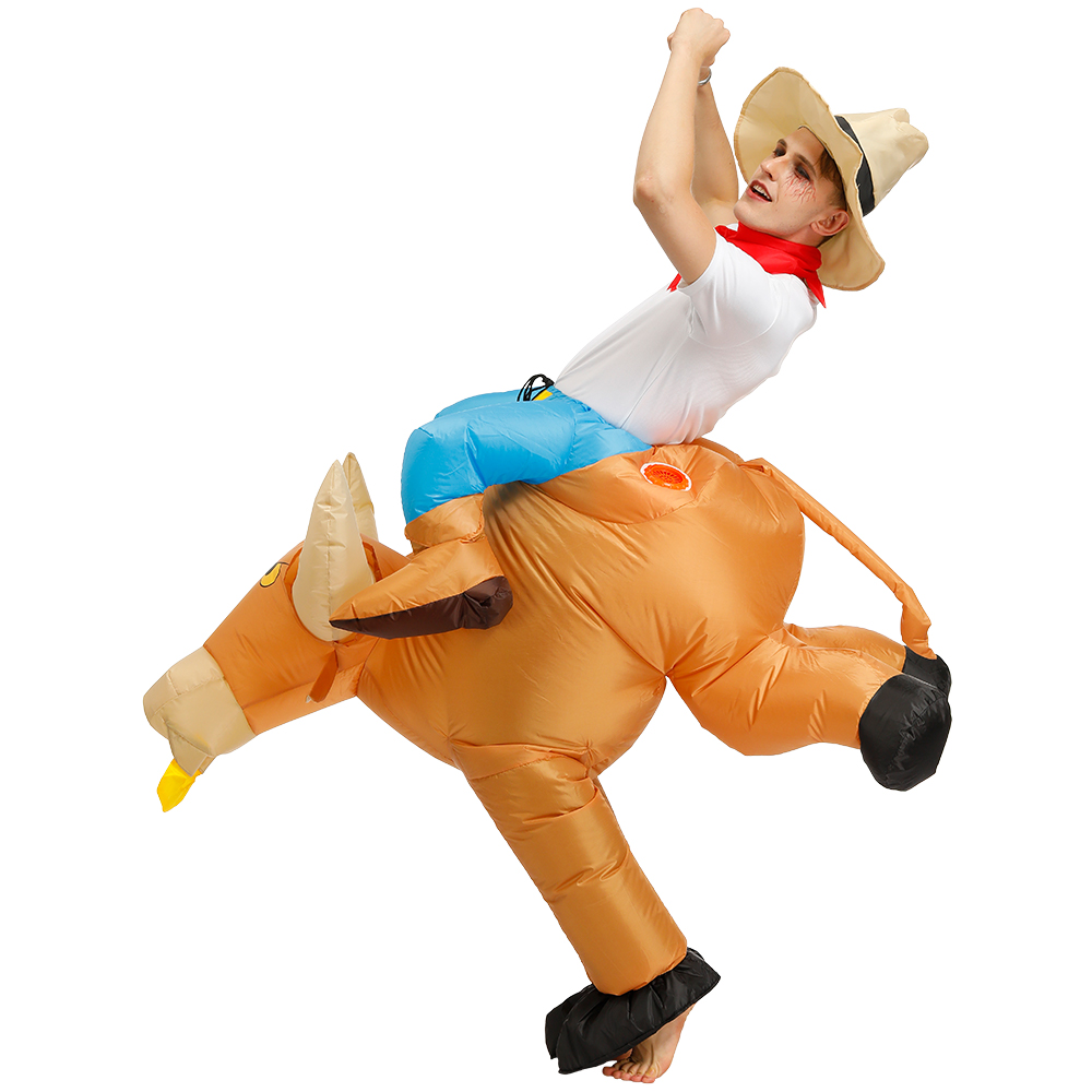 Image 3 - Disfraces Adultos Child Halloween Cosplay Ride a Bull Inflatable Costume Fantasia Costumes for Men Boy's Clothing