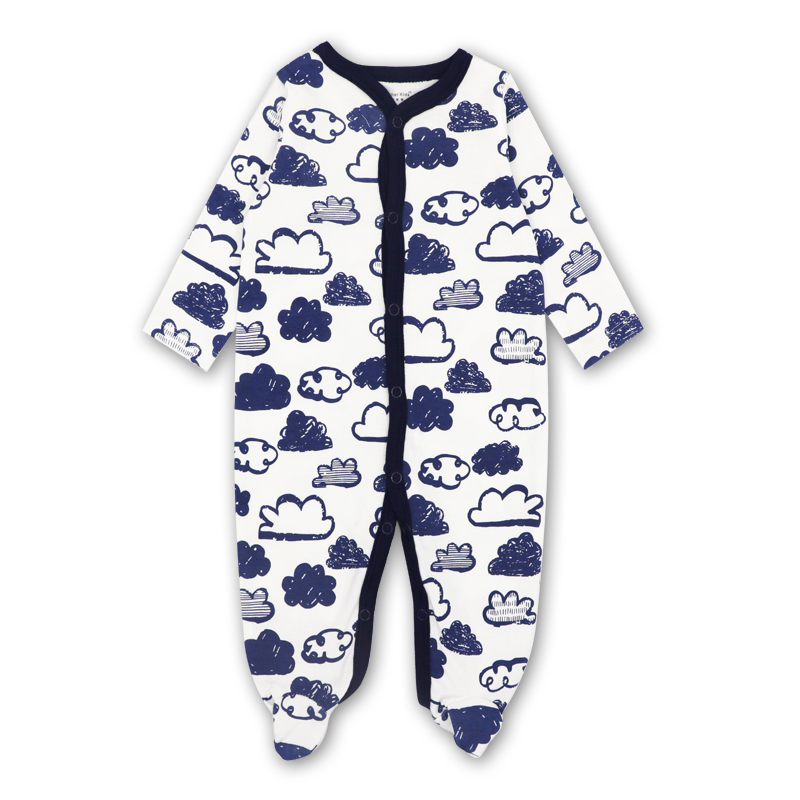 Newborn Baby Girl Clothes Footies Lucky Child Cotton Cartoon printing Infant Clothing 1pcs 0-12 months newborn baby girl clothes footies lucky child cotton cartoon printing infant clothing 1pcs 0 12 months