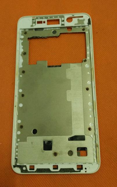 Usado LCD Original Frente Quadro shell case para THL W200 W200S W200C SmartMobile Telefone + Frete Grátis