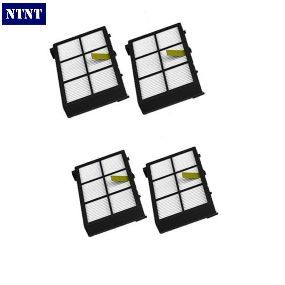 NTNT New 4 x HEPA Filter filters For irobot Roomba 800 series 870 880 Free Shipping 100% new and original fotek photoelectric switch mr 30x npn pnp output