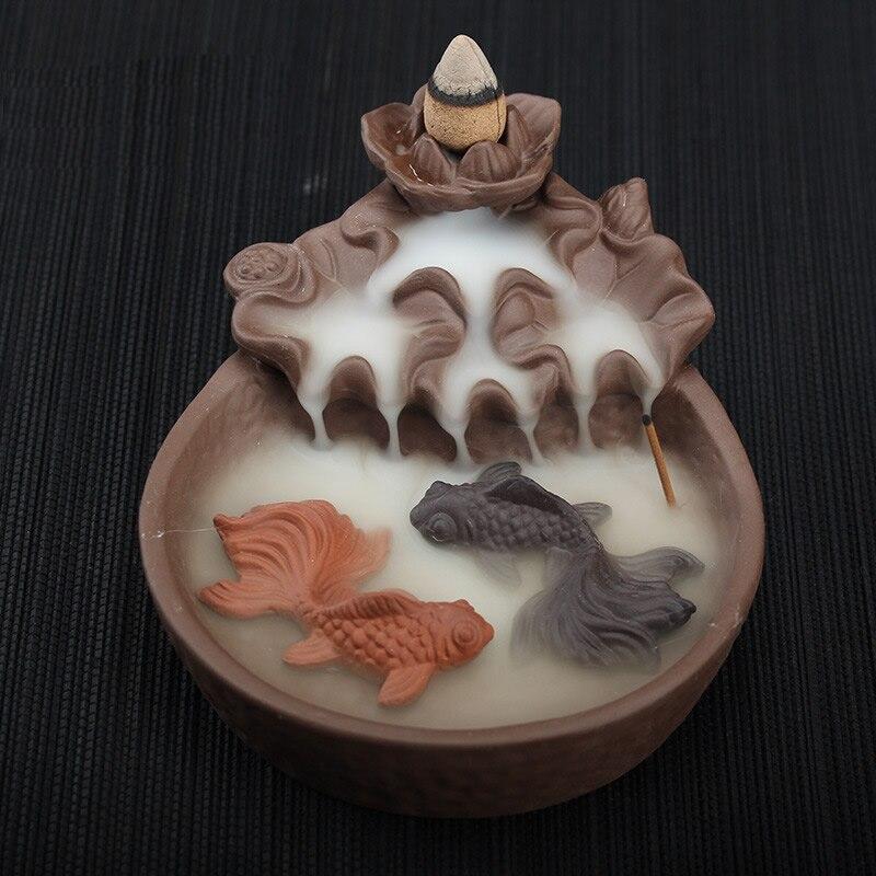 Refoulement Encens Brûleur En Céramique Refoulement Cône Bâton Brûleurs D'encens Encensoir Cadeau Ornements Creative Porte-Encens Home Decor