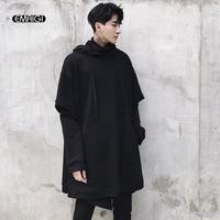 Men Women Punk Gothic Style Long Pullover Hooded Sweatshirt Jacket Male Fashion Casual Loose Long Sleeve