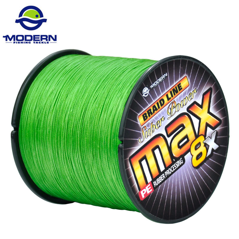500M 8X MODERN Braided Fishing Line Super Strong Japan Multifilament PE Wear-resistant Fishing Rope 8 Strands 20LB to 100LB
