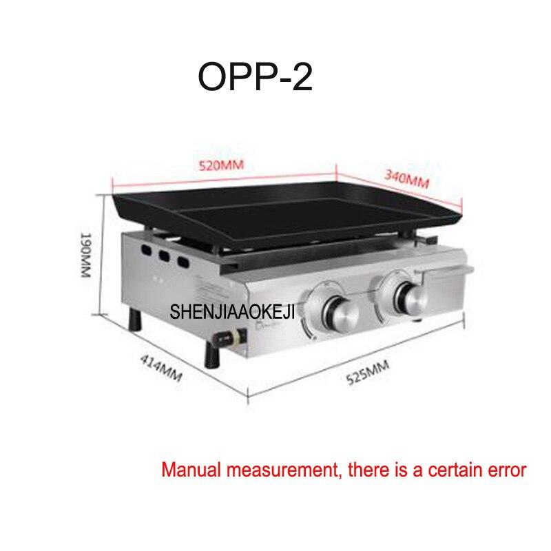 Four à Barbecue gaz extérieur Commercial four liquéfié OPP-2 bifteck frit eel teppanyaki équipement en acier inoxydable 1 pc
