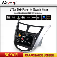 Two Din 7 Inch Car DVD Player For Hyundai Solaris Accent Verna I25 With 3G Host