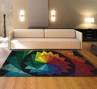 Colorful 3D Carpets For Living Room Anti slip Floor Mats Carpets For Children Bedroom Carpet Bedside Rugs Kids Room Mats