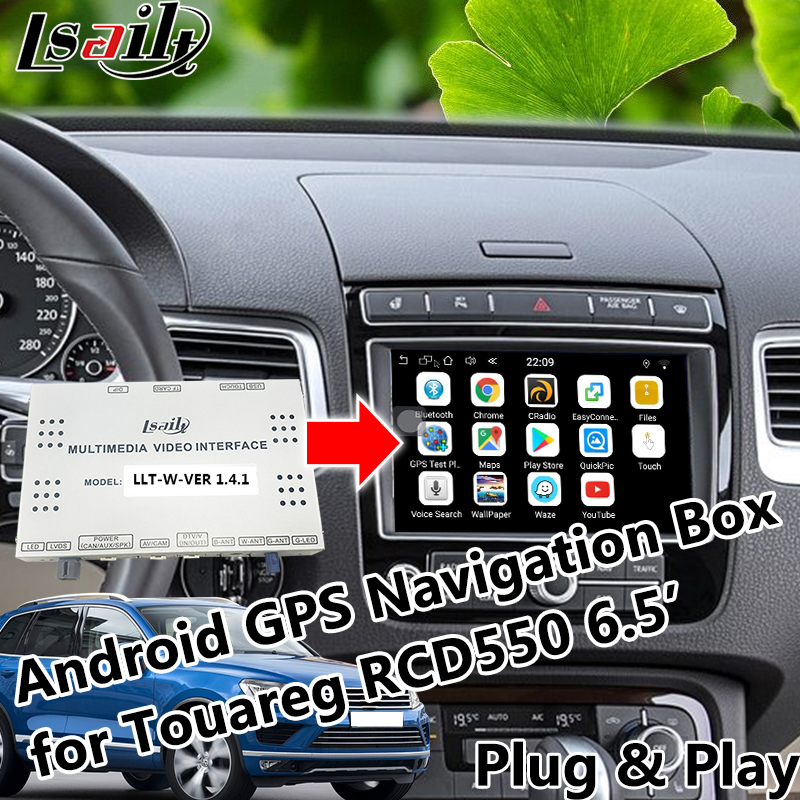 Android 6.0 GPS Navigation Box Video interface for 2010 2018 Volkswagen Touareg 6.5 RCD550 with Mirror link Online Map