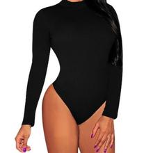 Plus Size S-3XL Bodycon Bodysuits Rompers Womens Jumpsuit 2017 Spring Autumn Sexy Turtleneck Long Sleeve Playsuits Overalls
