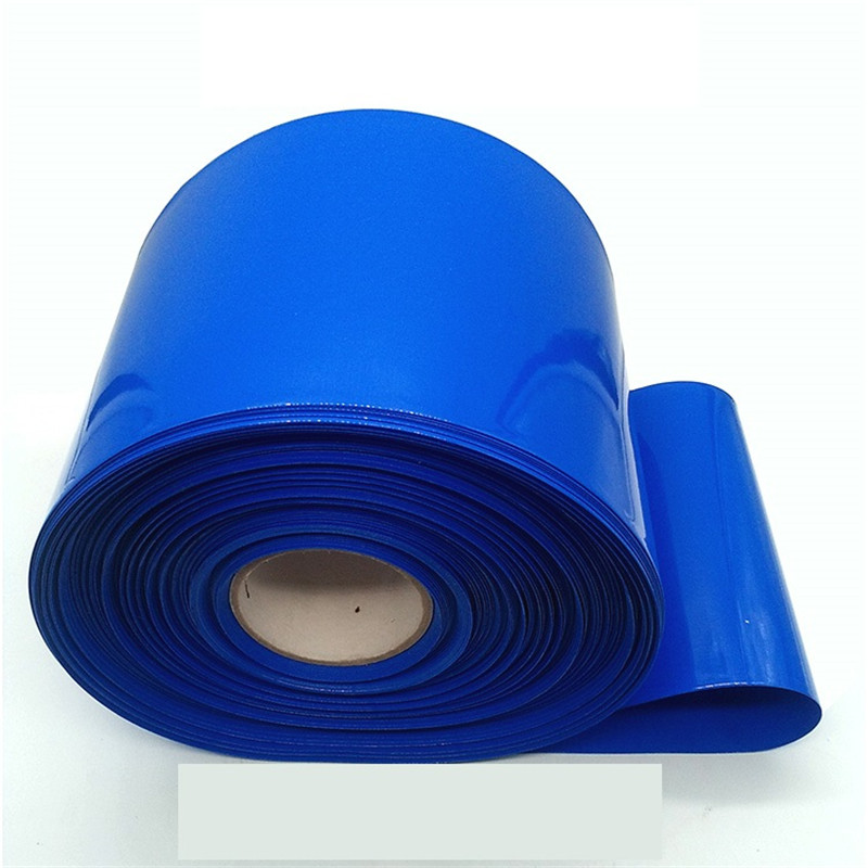 0 2mm thick insulated PVC blue heat shrinkable tube 18650 battery shrink film battery insulation sleeve 1KG Heat shrinkable tube in Cable Sleeves from Home Improvement