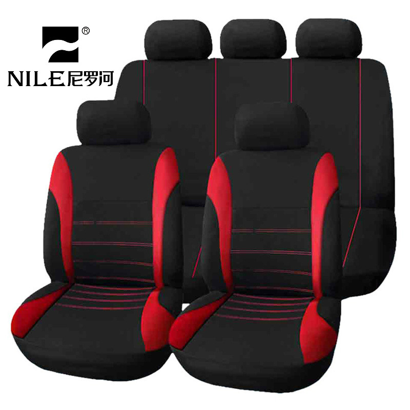 Nile Universal Car Seat Cover Kit 9 PCS Full Seat Covers for Auto Car Seat Protect Luxury Breathable Mesh Seat Cover все цены