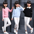 Newborn child autumn clothes turndown solid pullover upset the whole sleeve knit coat girl sweater WER08