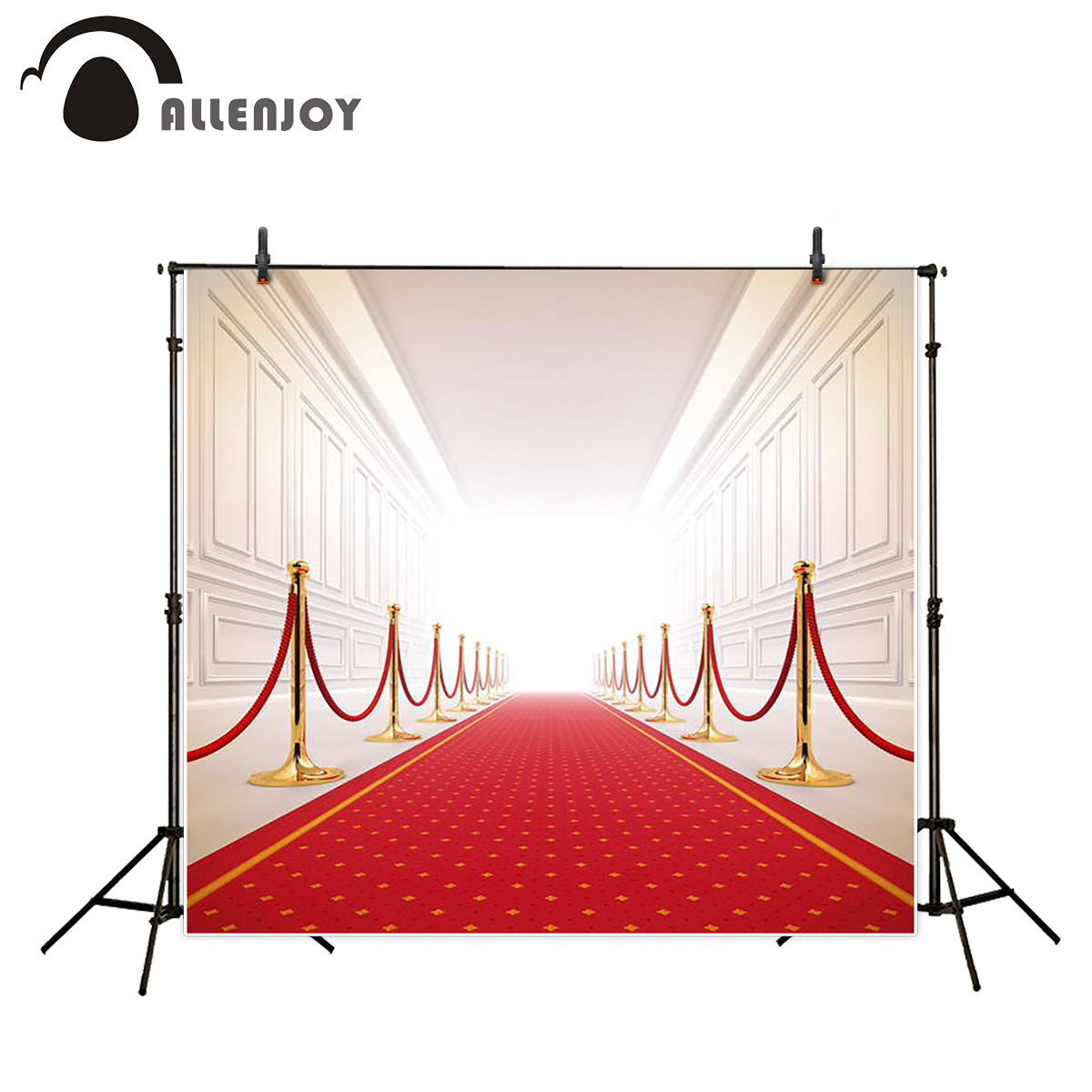 Allenjoy background photography red carpet white brick wall wedding backdrops fantasy props backdrop dark brown brick wall with white clock photography backdrops wedding background 200x300cm photo studio props fotografia