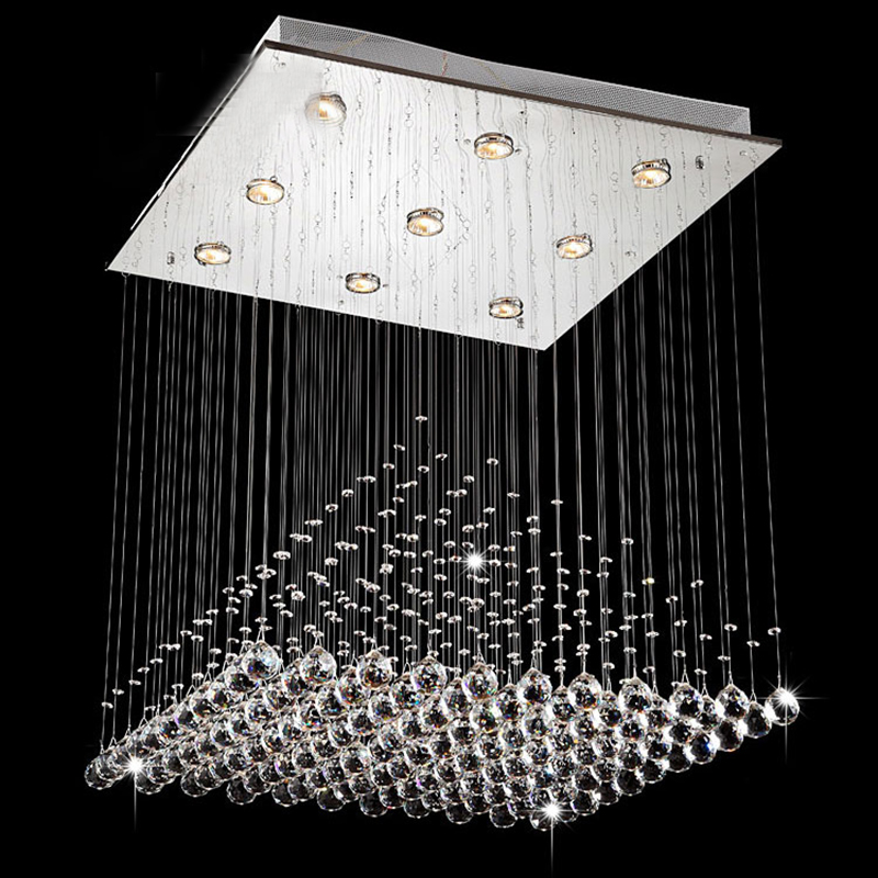 2018 Modern Wave K9 Crystal Hanging Wire Ball Square Pendant Lamp Lighting Fixture Rain Drop Curtain Glass Chandelier LED Light2018 Modern Wave K9 Crystal Hanging Wire Ball Square Pendant Lamp Lighting Fixture Rain Drop Curtain Glass Chandelier LED Light