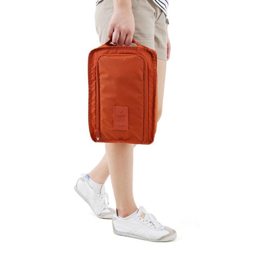 d335ac349 Portátil impermeable Zapatos organizador bolsa de almacenamiento bolsa  cubos de embalaje mango cremallera de nylon bolsa de viaje