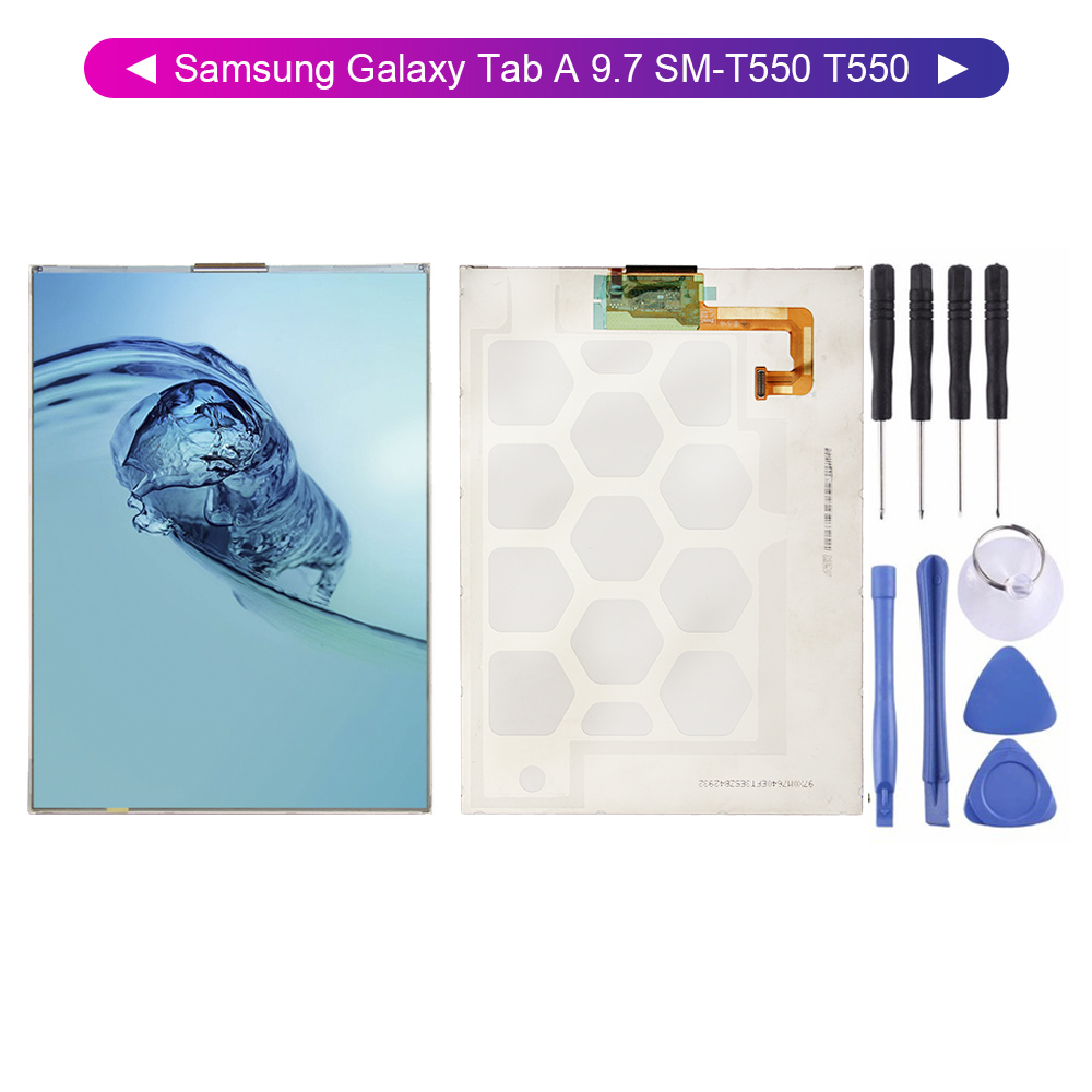 100% Test For Samsung Galaxy Tab A 9.7 SM-T550 T550 LCD Display Digitizer Screen Model Free Tools