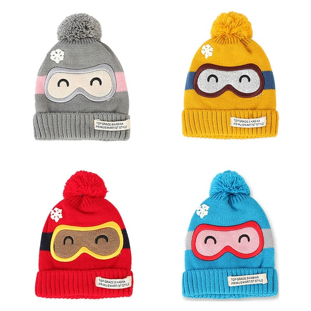 Infant Baby Mädchen Cap Knit Häkeln Hut Winter Dicker Warm Earflap ...