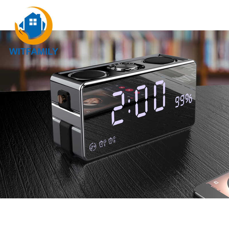 Smart Wireless Bluetooth Digital Alarm clock LED HD Phone