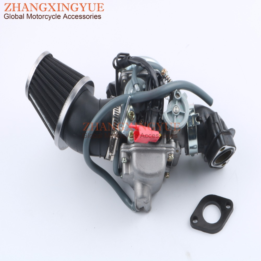 42mm Refit Mechanic & PD24J Carburetor & Manifold for GY6 125cc 150cc 152QMI 157QMJ 4T starpad for heroic gy6 125cc 150cc moped carburetor
