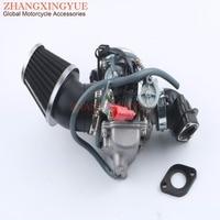 42mm Refit Mechanic & PD24J Carburetor & Manifold for GY6 125cc 150cc 152QMI 157QMJ 4T
