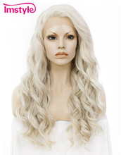Imstyle Wavy Synthetic honey ash Peluca rubia de encaje de 24 ""
