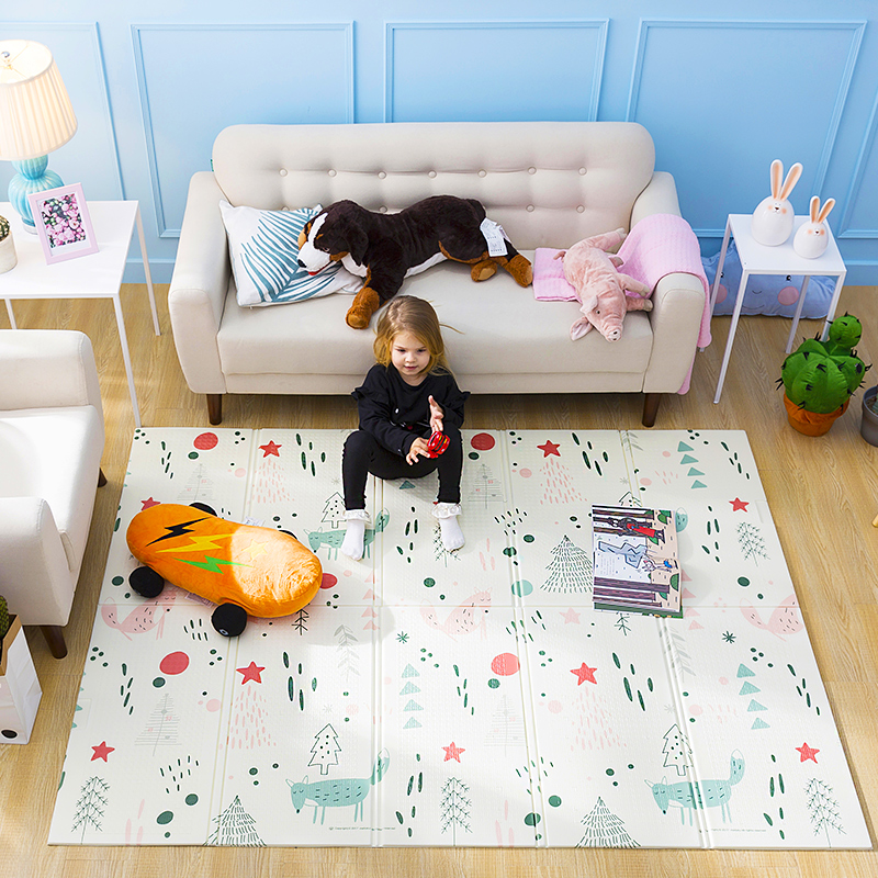 Tapis de jeu pour bébé brillant Xpe Puzzle tapis épaissi Tapete Infantil pour bébé tapis rampant tapis pliant tapis bébé - 3