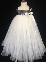 Lovely Girls Ivory Tutu Dress Baby Fluffy Tulle Dress Ball Gown With Ribbon Bow Children Evening