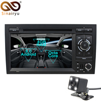 Android 8.0 Octa Core 4G RAM Car DVD Player Radio For Audi A4 2003 2004 2005 2006 2007 SEAT EXEO 2012 S4 RS4 8E 8F B9 B7 RNS E