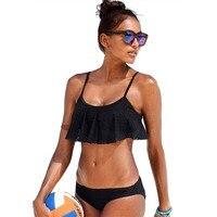 YCDKK Push Up New Simple Solid Color Bikini Set Sexy Low Waist Beach Swimwear Women Lace