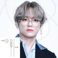 1 Pair 925 Sterling Silver DNA Korean Earrings Bangtan Boys V DNA Stud Earring For Women