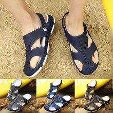 Домашний подошва мужской Повседневное мягкий Для мужчин на открытом воздухе отверстие обувь болотная обувь Летние сандалии пляжные шлепанцы палец ноги обувь