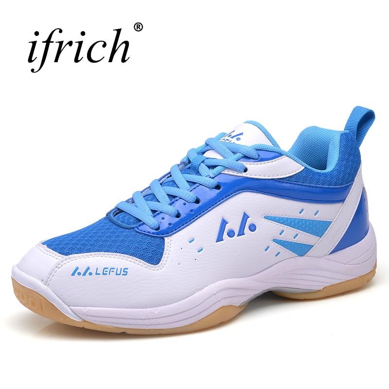 Womens Athletic Shoes Large Size Men Badminton Sneakers Anti-Slippery Sport Shoes Men Badminton Shockproof Mens Tennis Sneaker